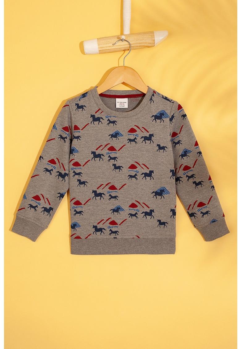 Bluza sport cu imprimeu grafic imagine