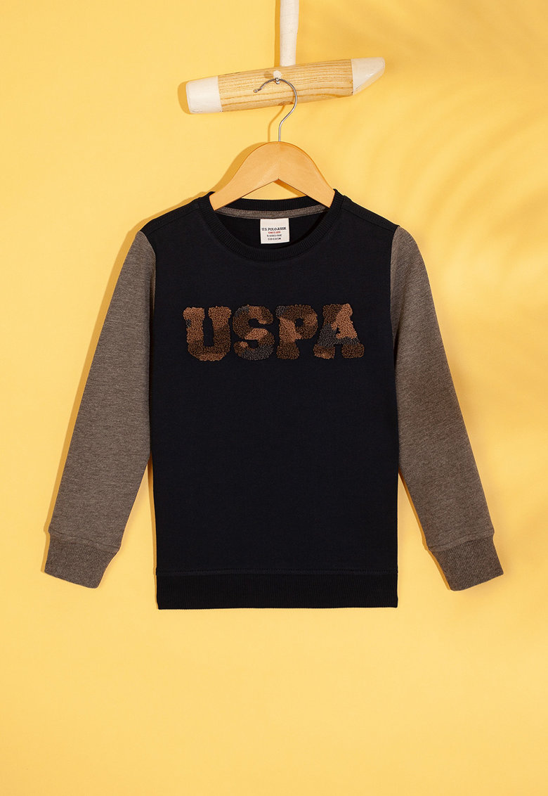 Bluza sport cu logo din material terry