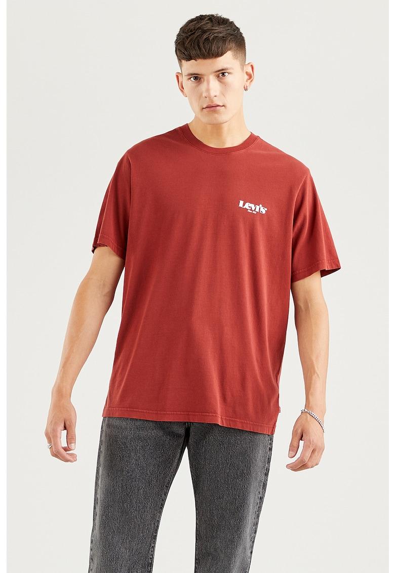 Tricou relaxed fit cu imprimeu logo 16143 imagine