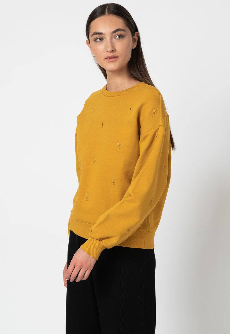 Bluza sport din amestec de lana - cu broderii imagine