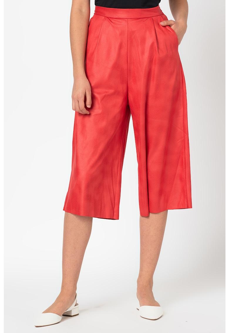 Pantaloni culotte cu talie inalta
