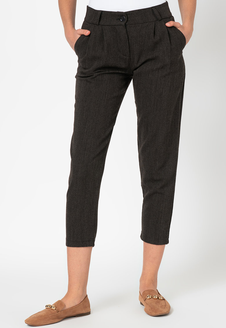 Pantaloni crop conici imagine fashiondays.ro