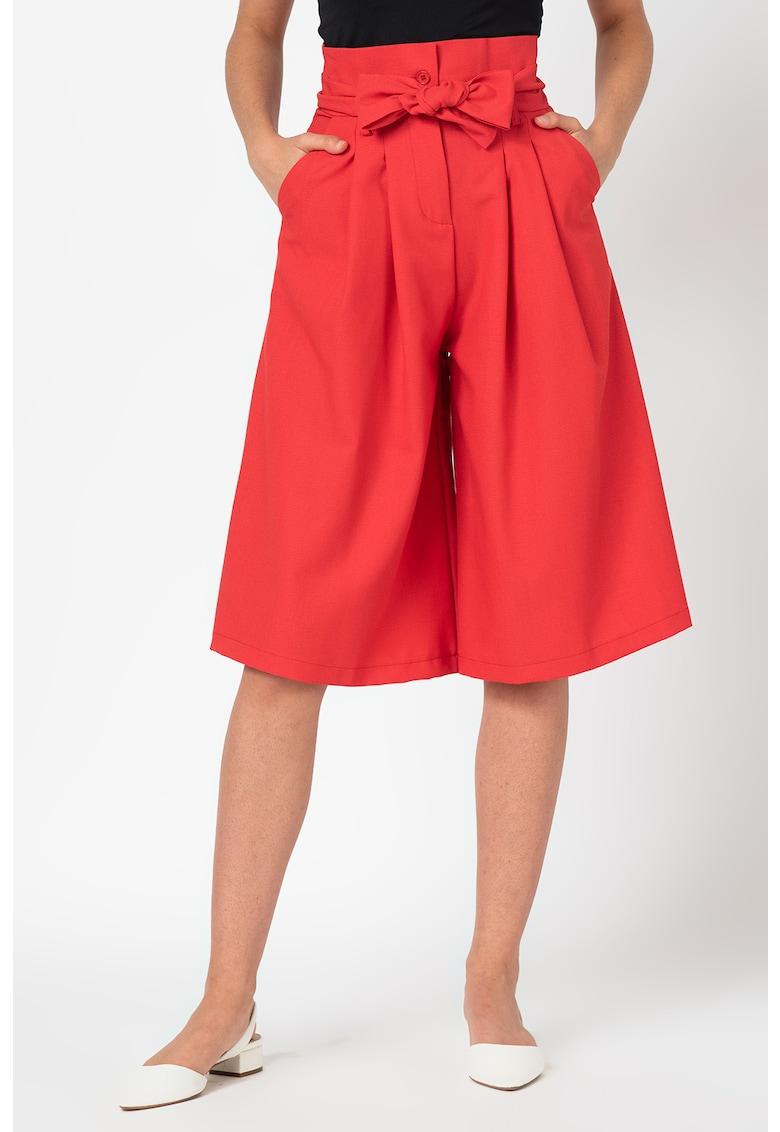 Pantaloni trei sferturi cu croiala ampla imagine