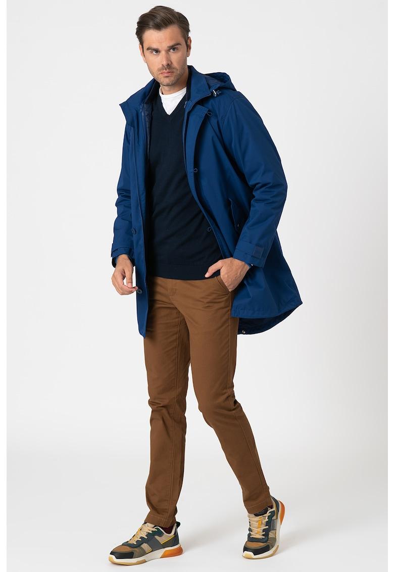 Jacheta cu fermoar si gluga