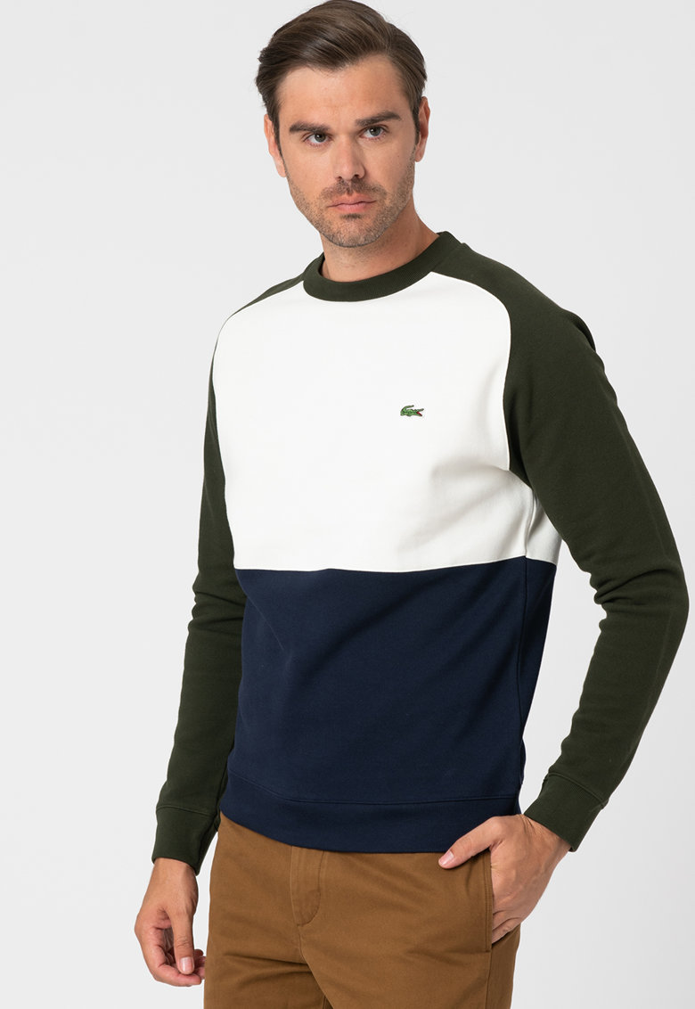 Bluza sport cu model colorblock