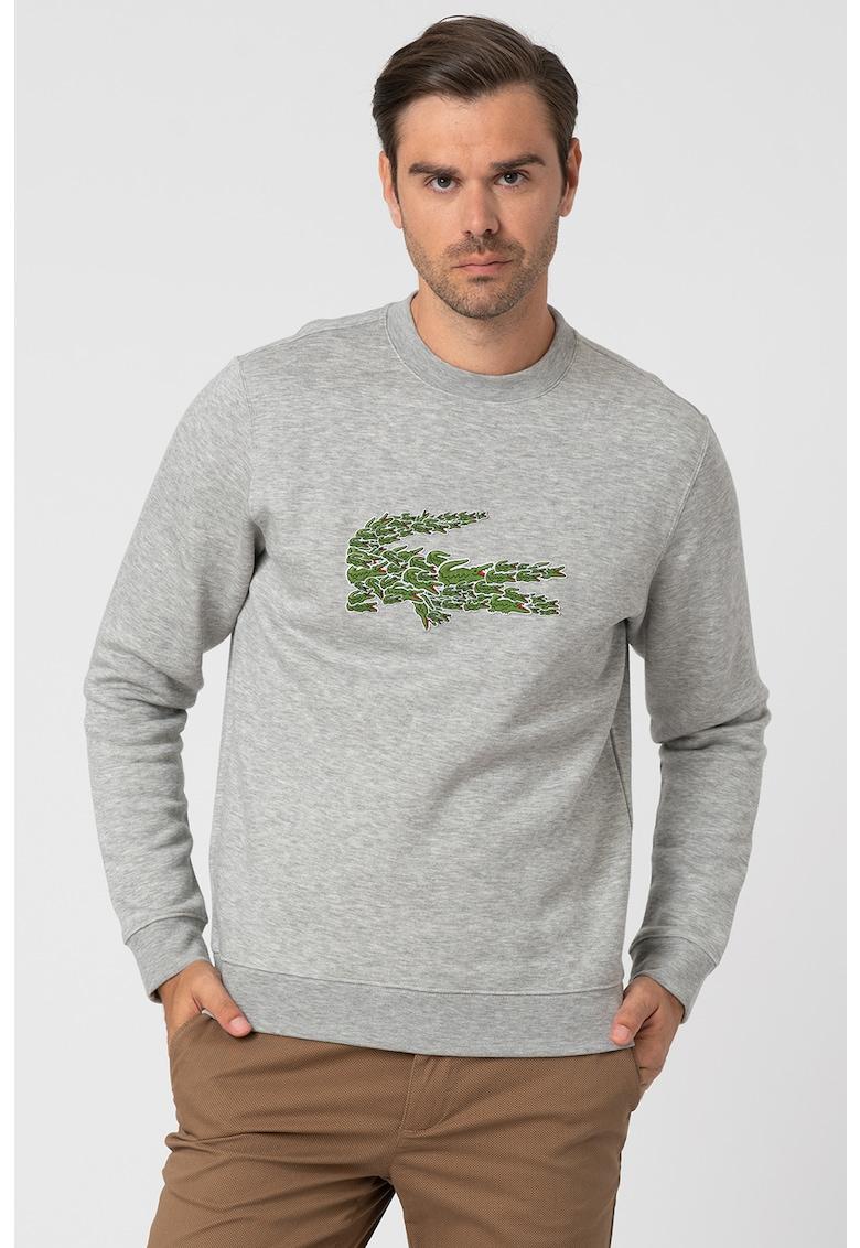 Bluza sport cu logo brodat supradimensionat de la Lacoste