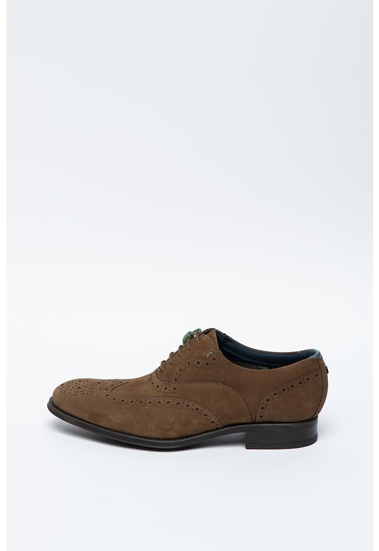 Pantofi Oxford de piele intoarsa Pellan imagine