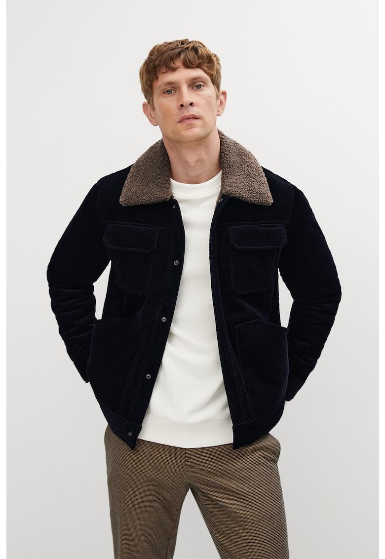 Jacheta de reiat cu garnituri de blana shearling sintetica Johna imagine