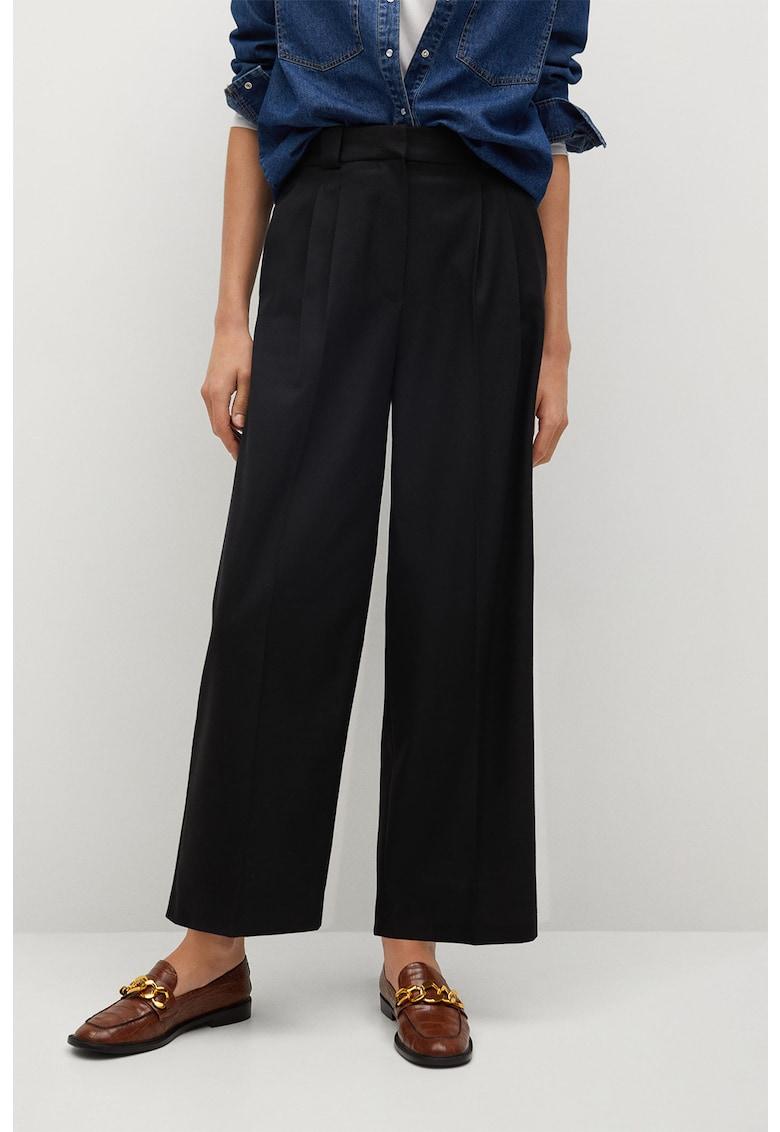 Pantaloni cu croiala ampla si buznare ample Tyra
