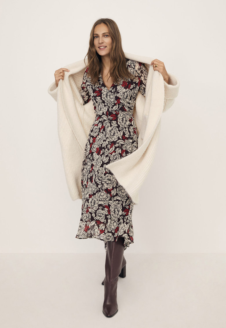 Rochie cu imprimeu floral Julia Mango
