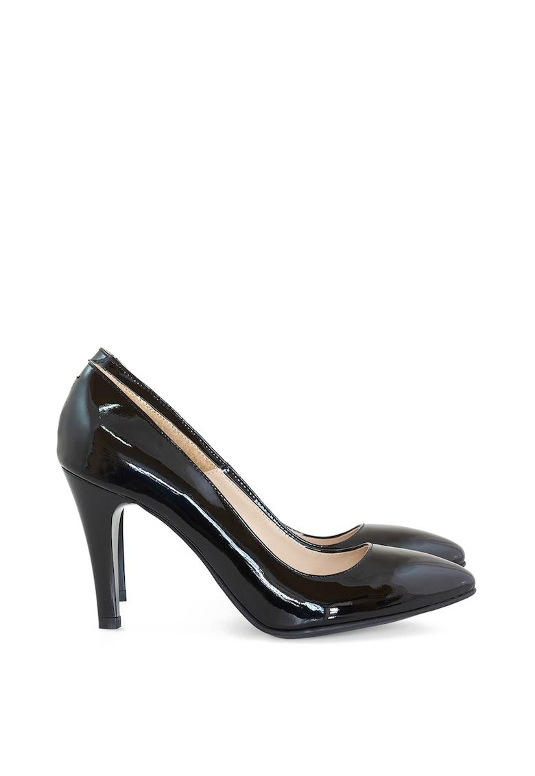 Pantofi din piele lacuita cu varf ascutit Elly