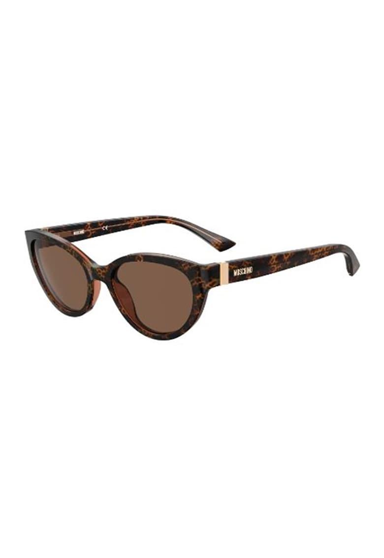Ochelari de soare cat-eye cu aspect stratificat imagine fashiondays.ro Moschino