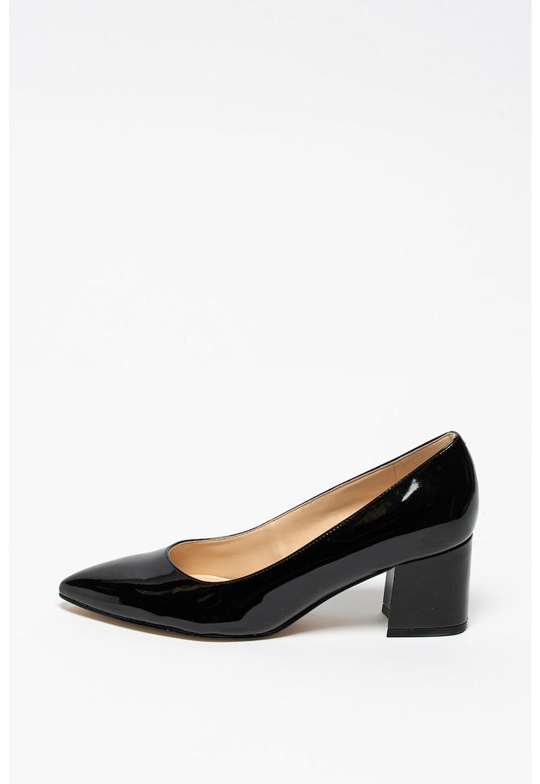 Pantofi din piele ecologica lacuita Tves imagine