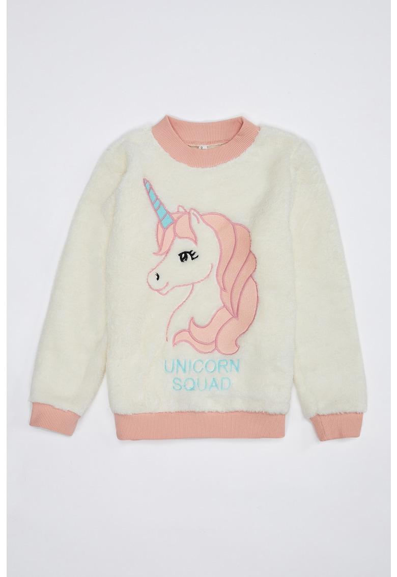 Bluza sport pufoasa cu model unicorn