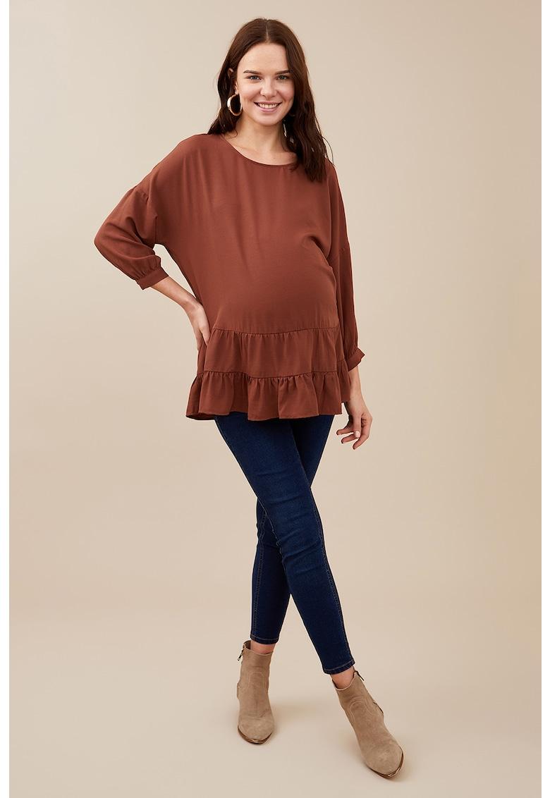 Bluza cu maneci trei sferturi pentru gravide