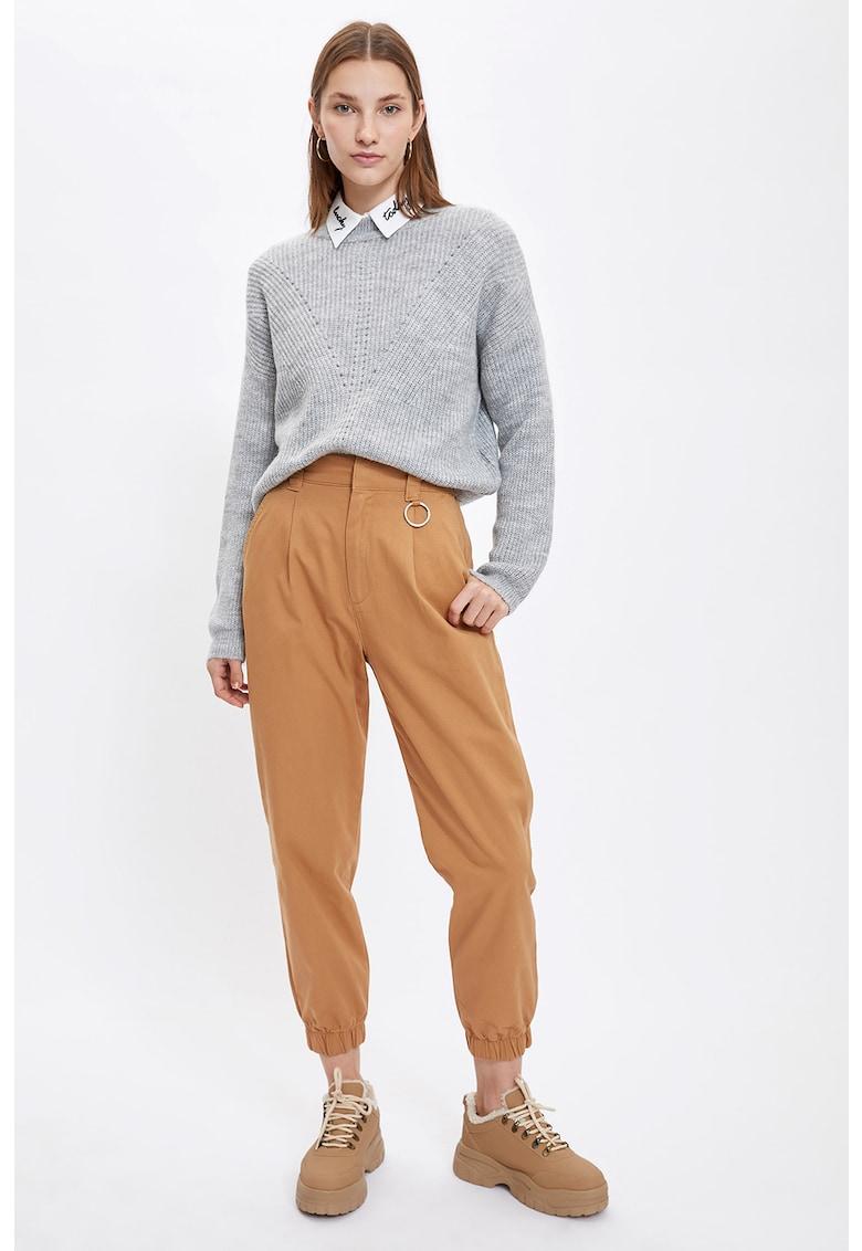 Pantaloni conici cu mansete elastice DeFacto imagine 2021
