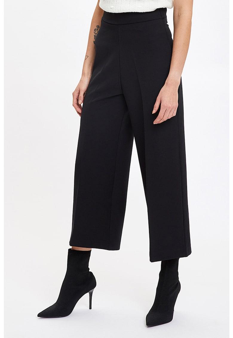 Pantaloni culotte cu talie inalta imagine fashiondays.ro