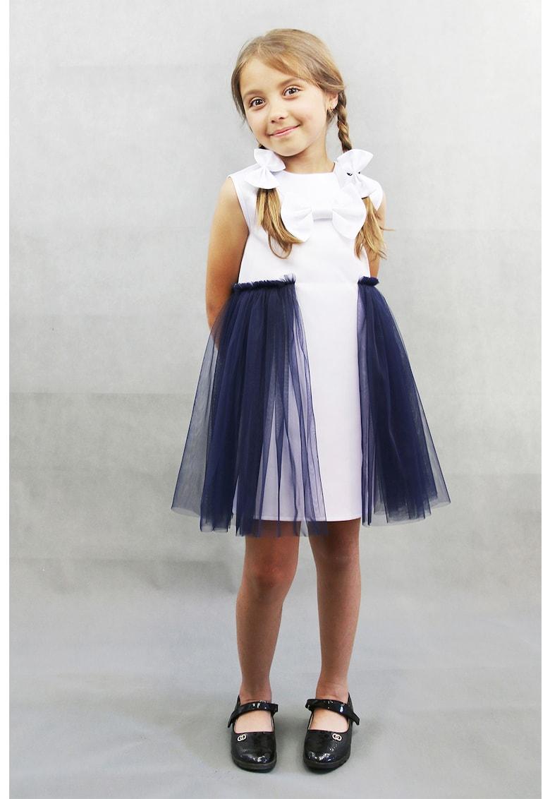 Rochie mini cu aplicatii din tul Evelin