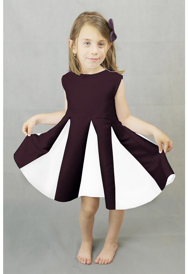 Rochie plisata cu model colorblock Tulip Ilona-Andreoiu