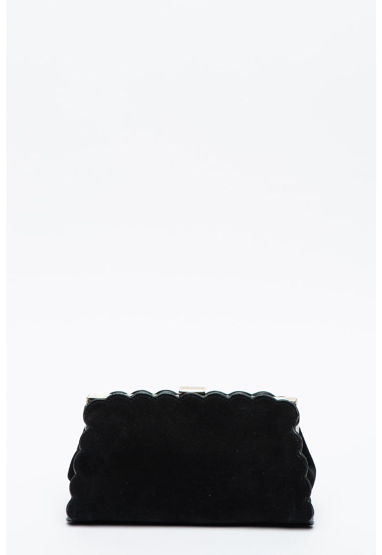 Geanta plic din piele intoarsa cu bareta din lant Elaynna imagine promotie