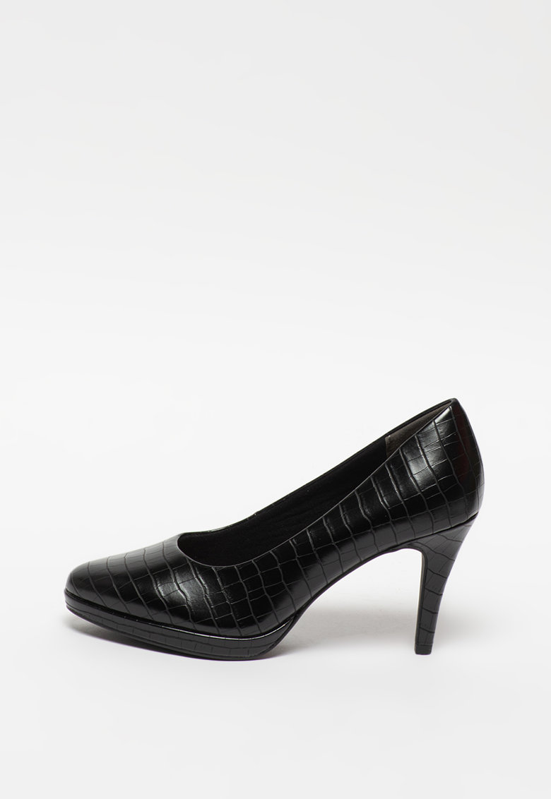 Pantofi din piele ecologica cu toc inalt imagine promotie