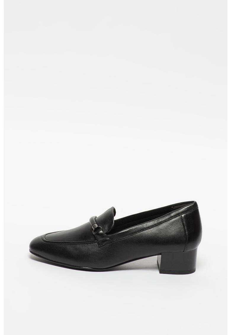 Tamaris Pantofi din piele cu toc masiv