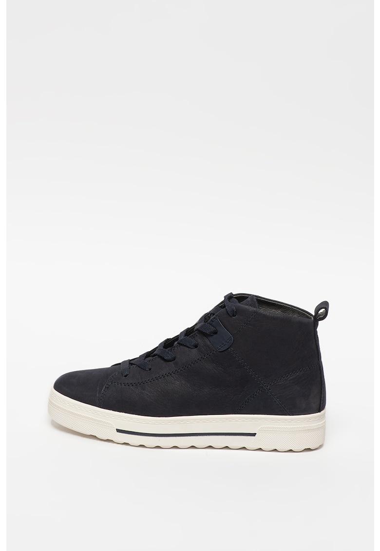 Pantofi sport inalti din piele nabuc