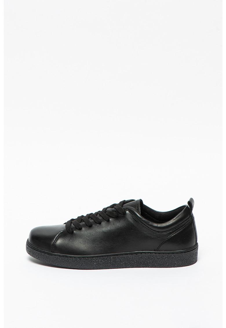 Pantofi sport uni de piele imagine