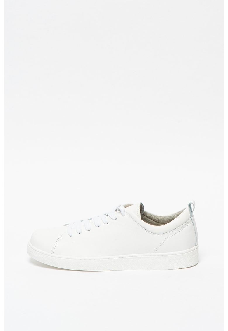 Pantofi sport de piele cu talpa plata imagine promotie