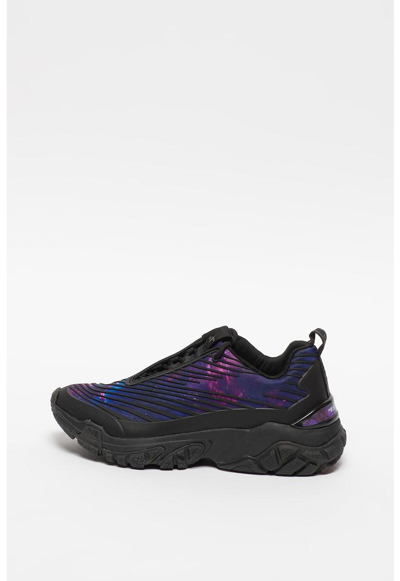 Pantofi sport cu imprimeu galaxy imagine promotie