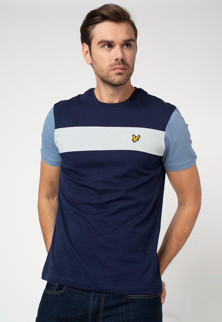 Tricou cu model in dungi si logo