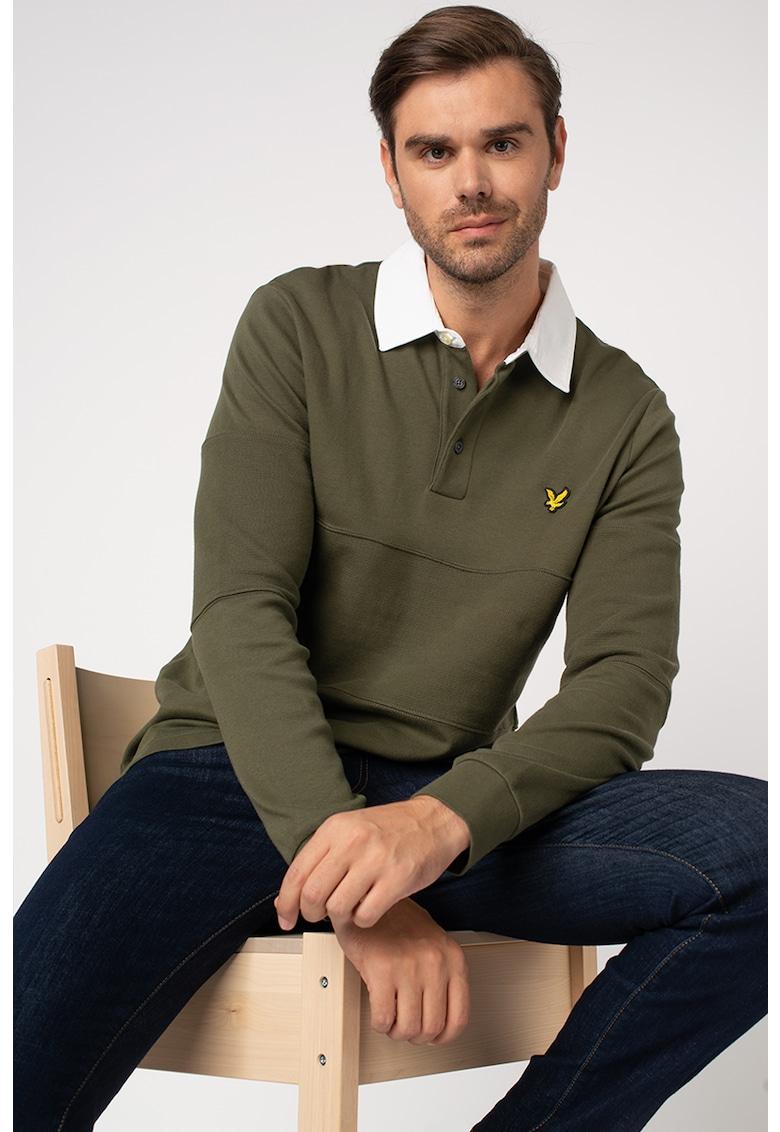 Bluza polo cu detaliu logo brodat