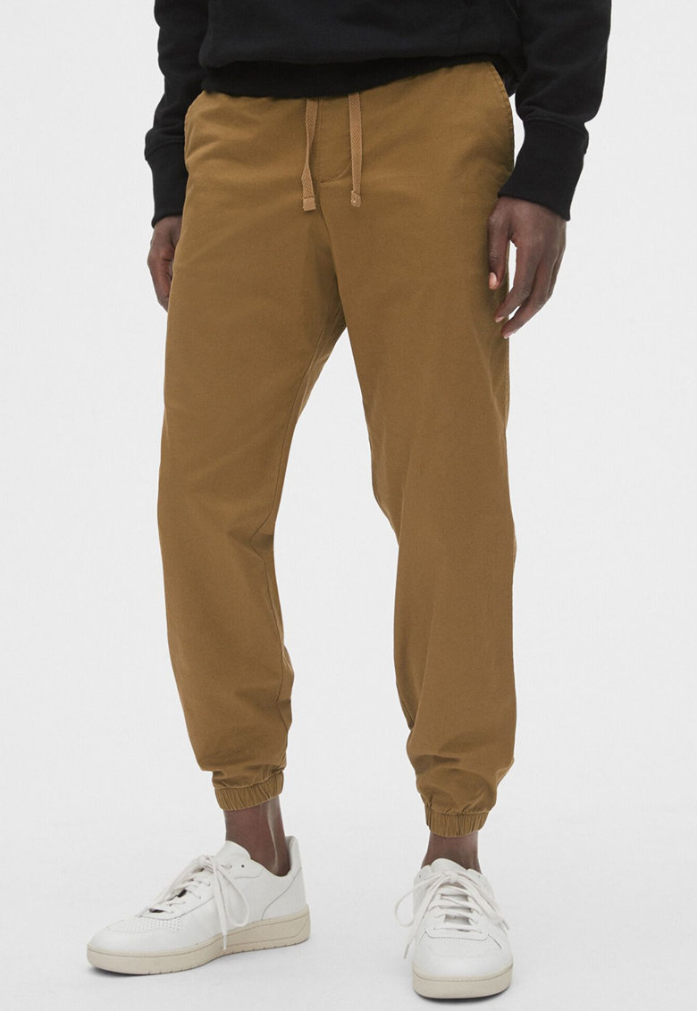 Pantaloni jogger slim fit de panza cu GapFlex imagine