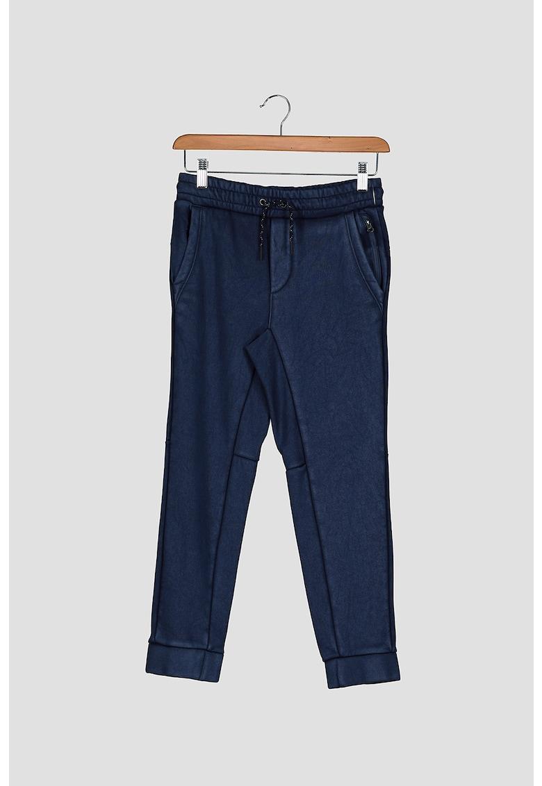 Pantaloni sport din amestec de bumbac - cu snur