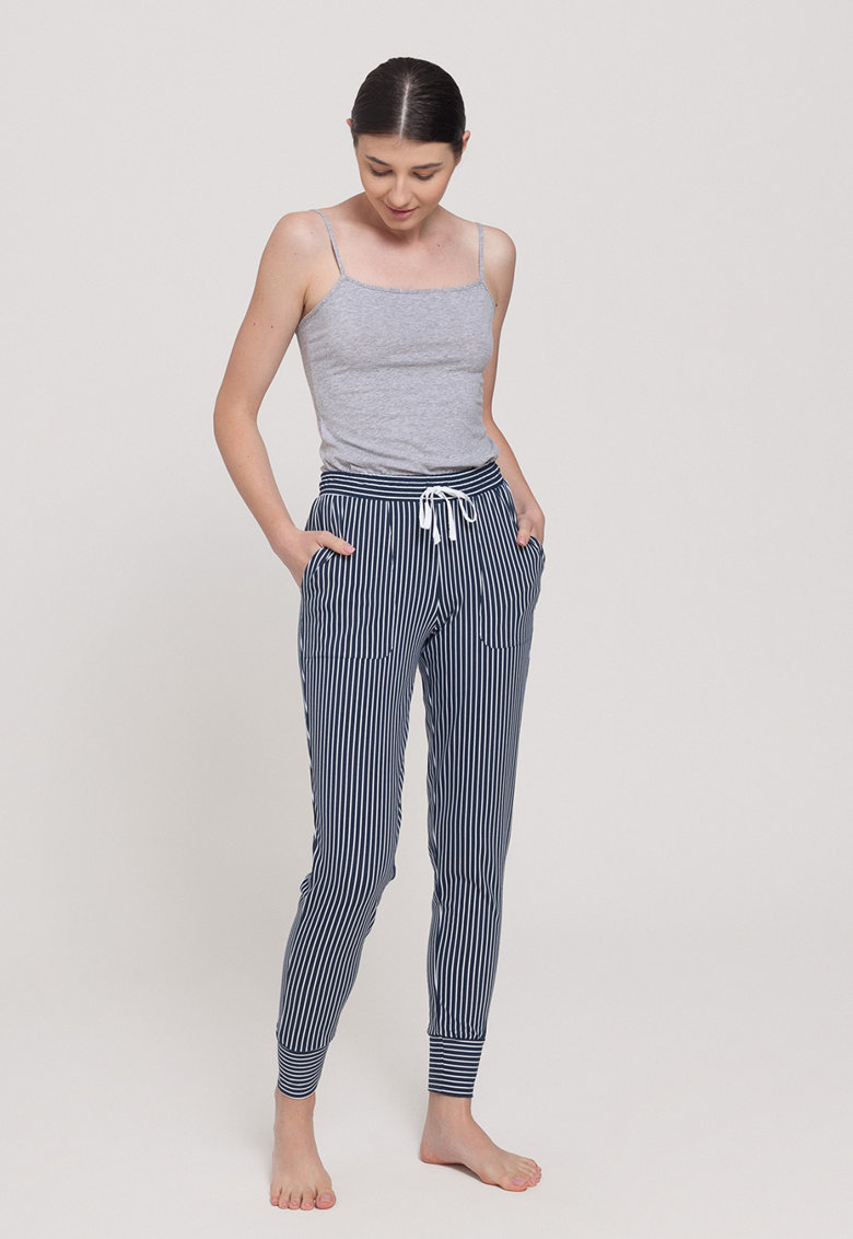 Pantaloni de pijama din amestec de modal cu textura moale Urban Story imagine fashiondays.ro 2021