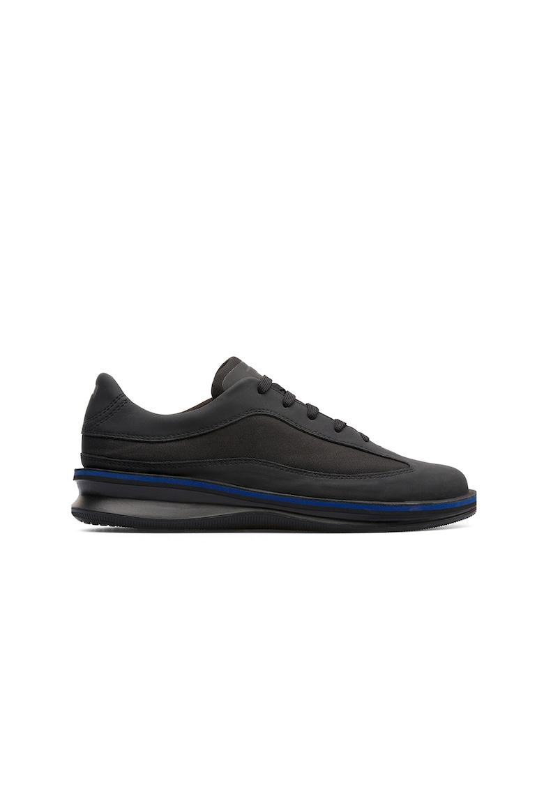Pantofi sport de piele cu insertii de material textil imagine