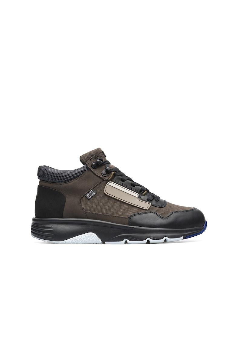 Pantofi sport mid-high cu detalii de piele Drift