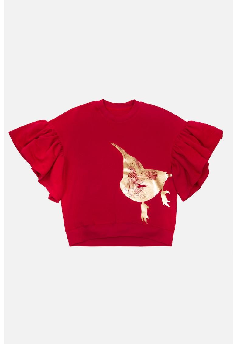 Bluza sport cu imprimeu metalizat
