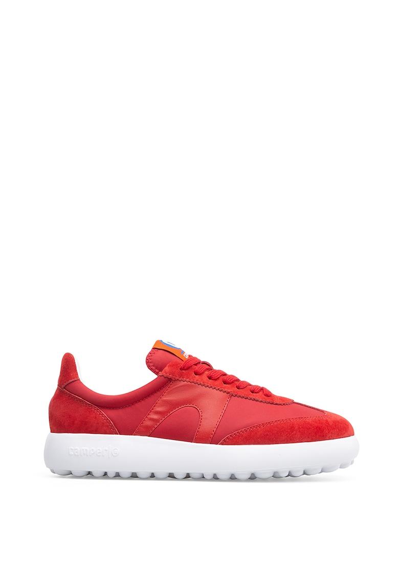 Pantofi sport cu detalii din piele intoarsa