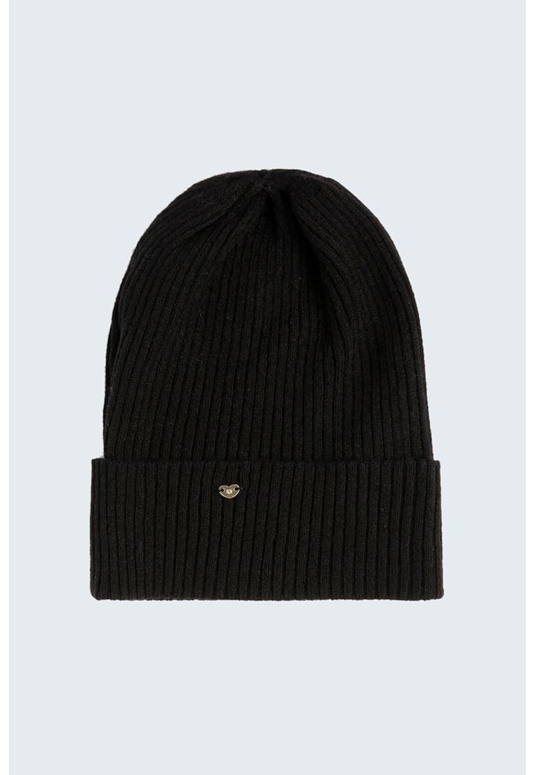 Caciula elastica din amestec de lana imagine promotie