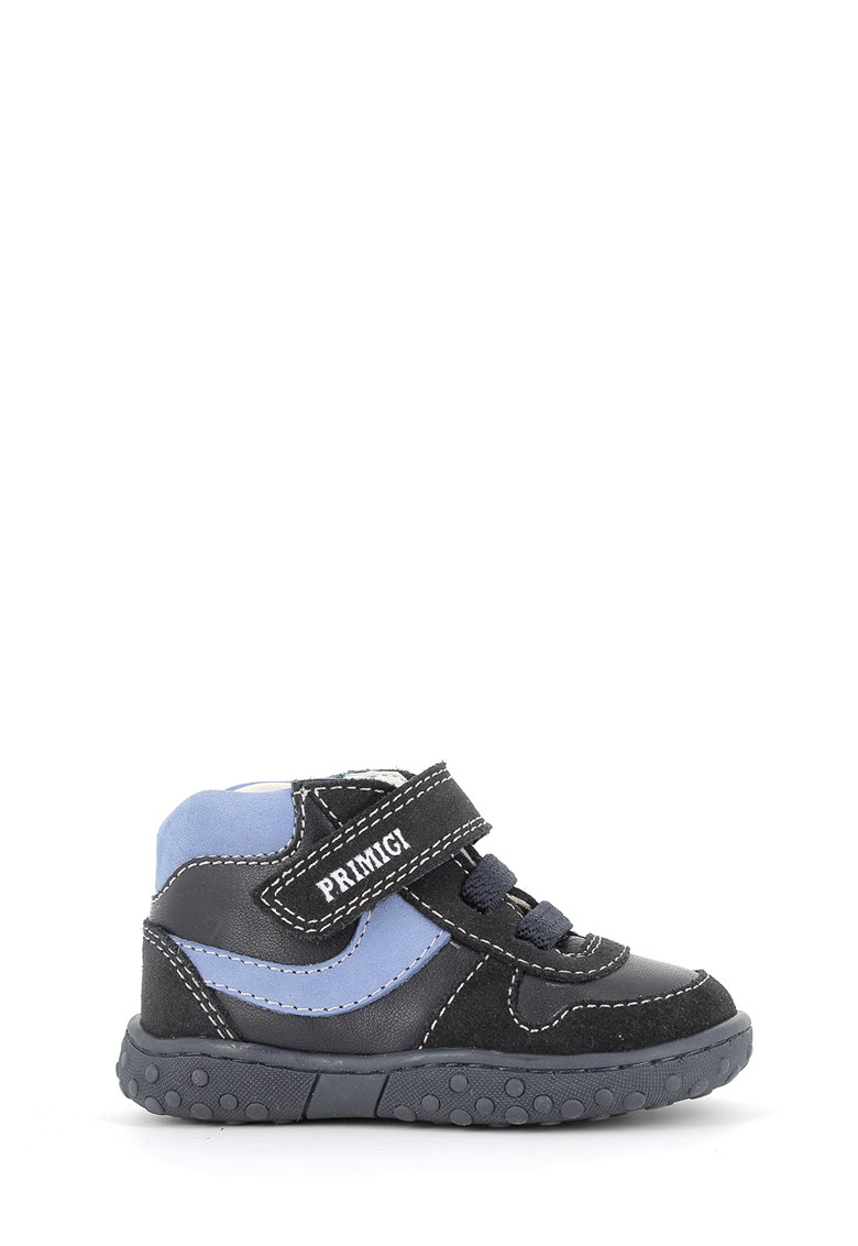 Pantofi sport de piele cu insertii de piele intoarsa imagine promotie