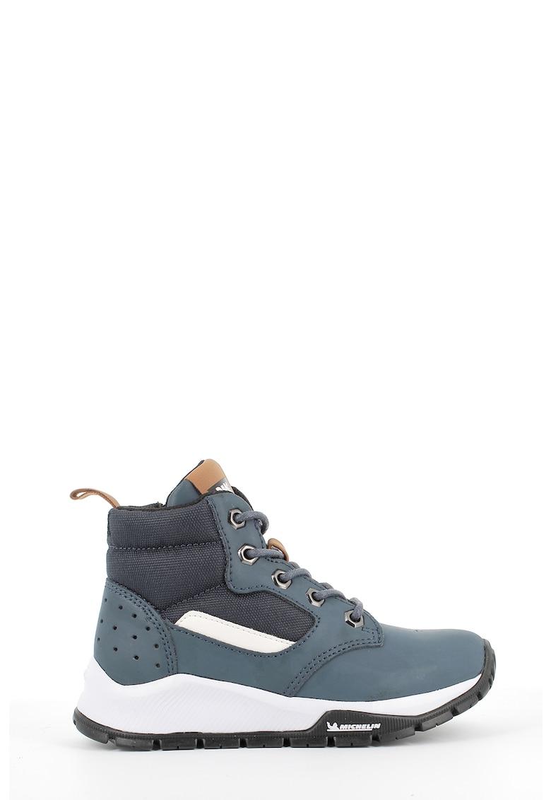 Pantofi sport high-top de piele nabuc imagine promotie