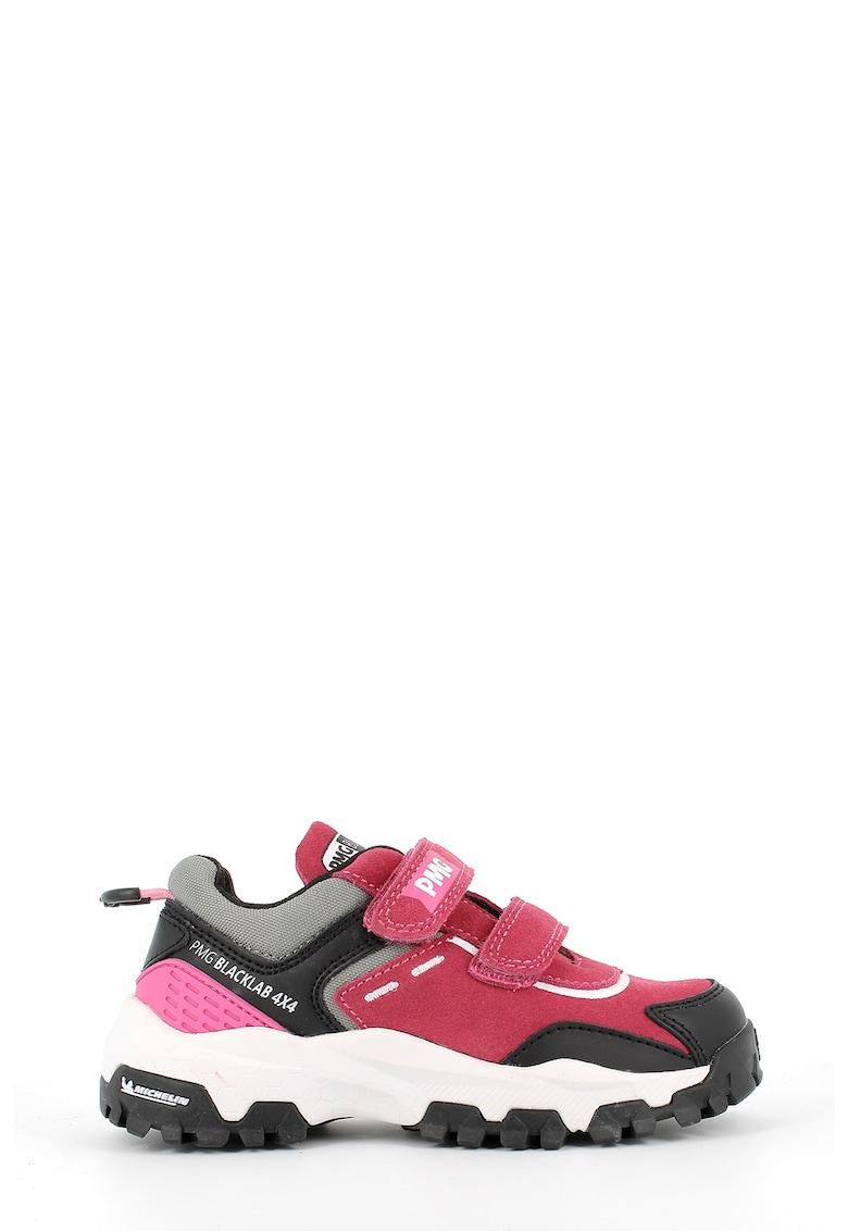 Pantofi sport cu velcro si insertii de piele intoarsa imagine promotie