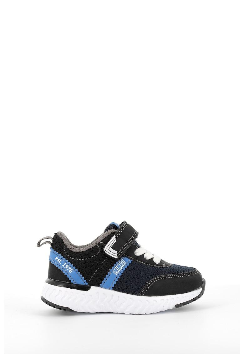 Pantofi sport de piele si material textil - cu velcro imagine promotie