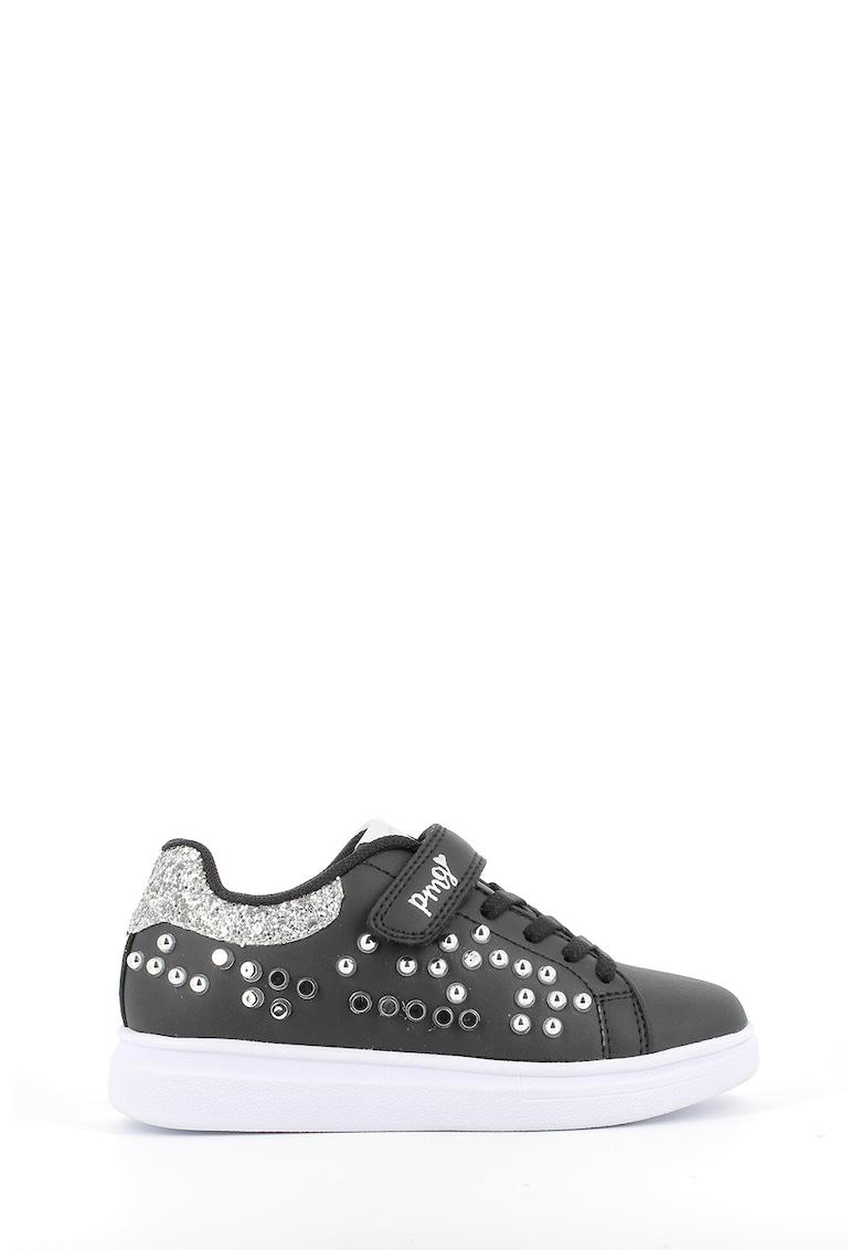 Pantofi sport de piele ecologica cu strasuri imagine promotie