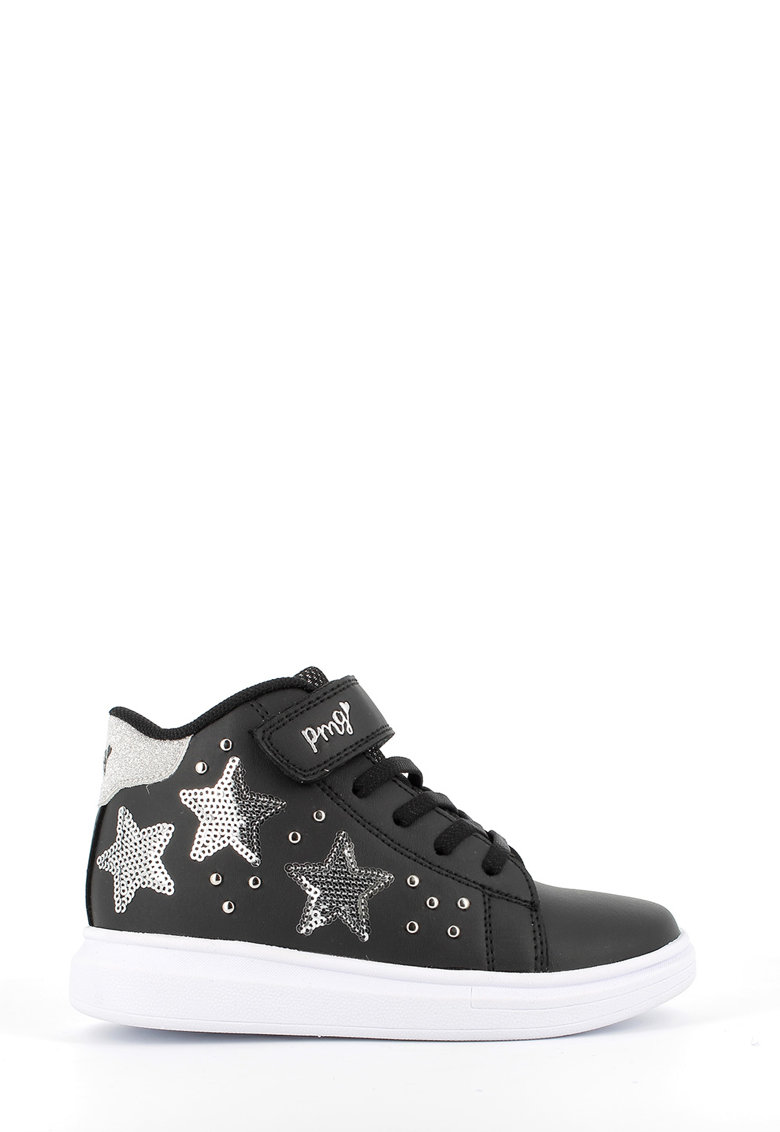 Pantofi sport mid-high de piele ecologica cu paiete imagine promotie