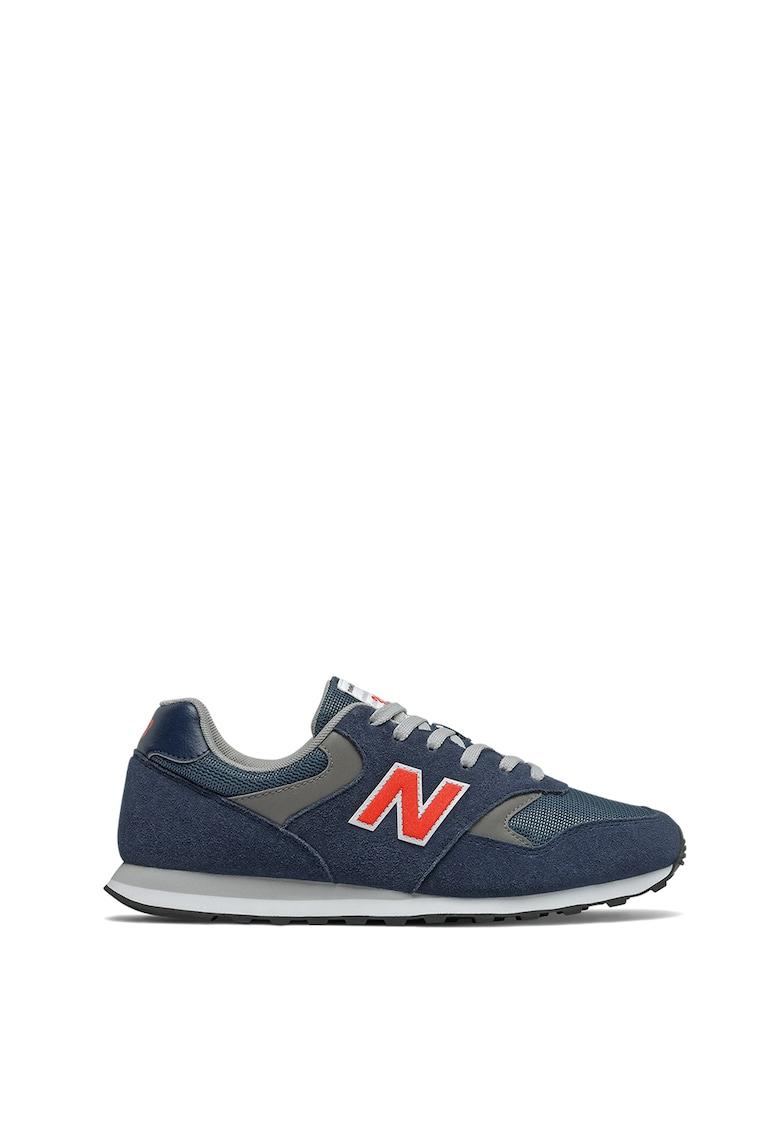 Pantofi sport de piele intoarsa cu insertii de plasa 393