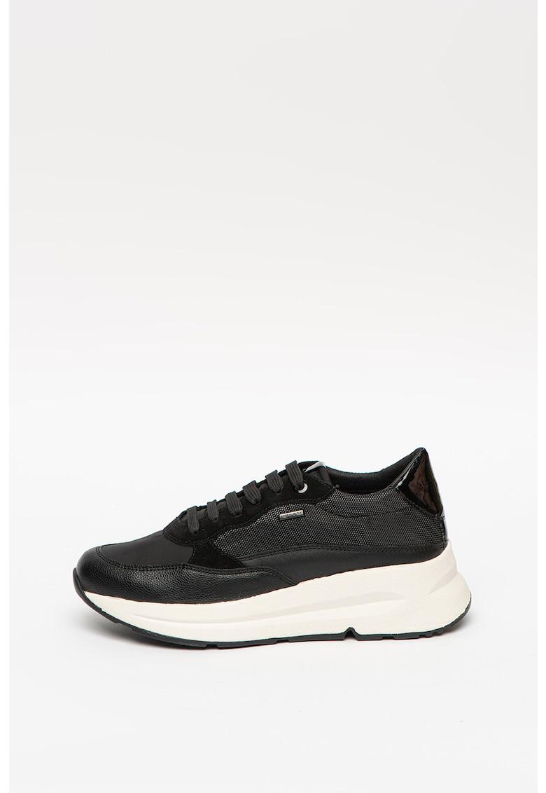 Pantofi sport de piele ecologica cu insertii de material textil si piele Backsie