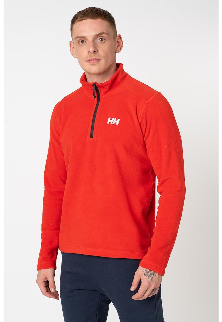 Bluza regular fit de fleece cu fenta si fermoar Daybreaker