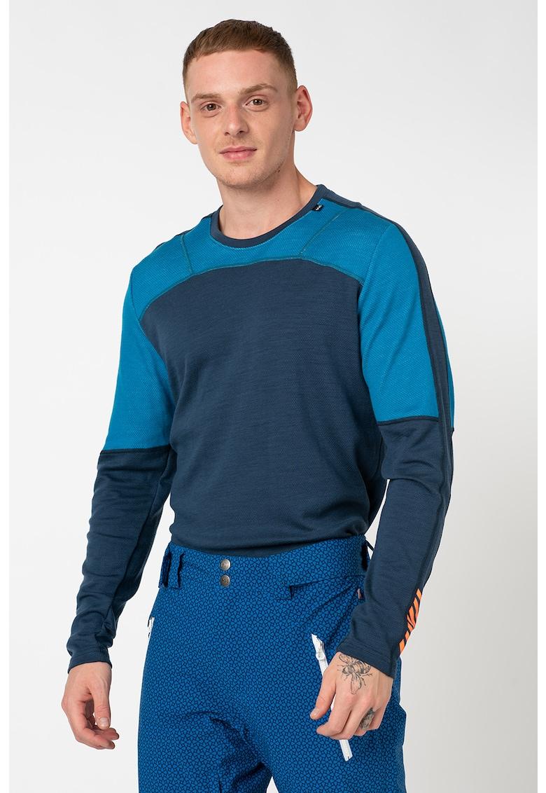 Bluza termica de lana merinos cu decolteu la baza gatului LIFA imagine